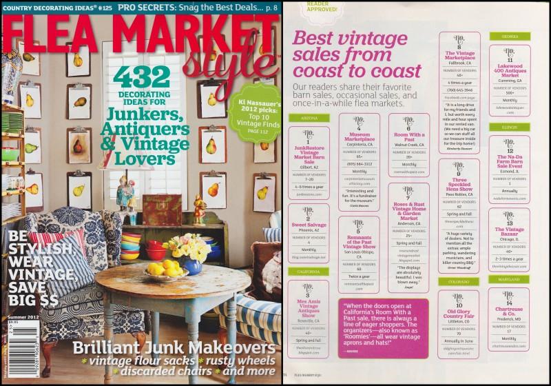 Mes Amis Flea Market Style Magazine Summer 2012